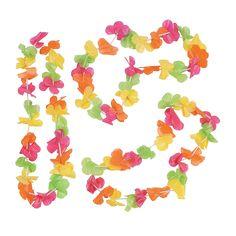 Bright Neon Leis - $3/1 dozen OrientalTrading.com