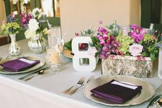Like the table number..   Photography by waiphoto.com Event Planning by momentprive.com/ Floral Design by flowerallieweddings.com/  Read more - http://www.stylemepretty.com/2013/06/28/newport-coast-wedding-from-wai-reyes-photography/