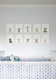 nursery art above the crib - cute!