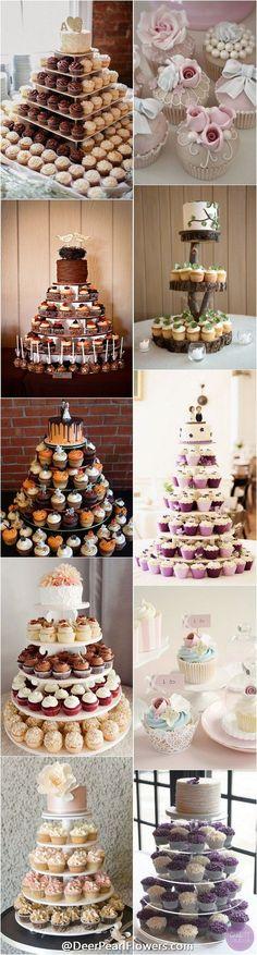 Mini Wedding Cake Wedding Cupcake  / http://www.deerpearlflowers.com/wedding-cupcakes-ideas-we-love/