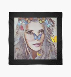 """""""Woman"""" Scarf by Scarf Design, Sell Your Art, Womens Scarves, Fan Art, Seasons, Woman, Artist, Stuff To Buy, Painting"""