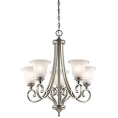 Kichler Lighting 43156NI Monroe - Five Light Chandelier, Brushed Nickel Finish