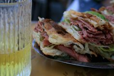 Someday I will go back to Rome just for this pastrami sandwhich.