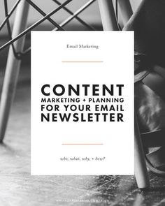 The who, what, where, why, and how of crafting an email newsletter for your blog or creative business Email Marketing Campaign, Email Marketing Strategy, E-mail Marketing, Business Marketing, Content Marketing, Online Marketing, Digital Marketing, Marketing Ideas, Marketing Automation