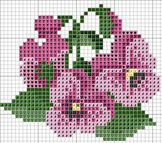 pretty flower pattern for perler beads or cross stitch Small Cross Stitch, Cross Stitch Cards, Cross Stitch Flowers, Cross Stitch Designs, Cross Stitching, Cross Stitch Embroidery, Cross Stitch Patterns, Loom Patterns, Beading Patterns