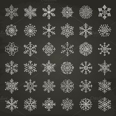 Check out Winter Snowflakes Doodles by Olka on Creative Market