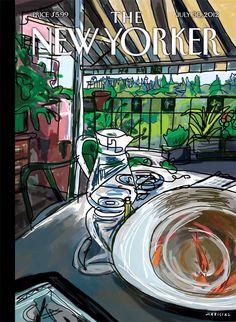 6 de agosto de 2012: Mariscal diseña la portada del último número de The New Yorker.
