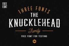 FREE Font: Knucklehead #typeface #logotype #freebie #free #graphic #FreeDesigns #font #freefont #design #family #fonts #alphabet #free #graphicdesign #freebies #FreeGraphics #fontfamily #behance