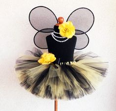 Bumble Bee Tutu Costume  sizes newborn to 5T  by TiarasTutus, $85.00