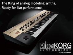 KING KORG - Tube powered analog  synthesizer