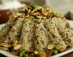 Spiced rice with minced lamb ( Hashwet al-ruz)