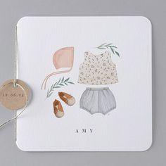 Geburtskarten Happy Girl : original, scandinave in libertypastel Faire Part Nature, Faire Part Chic, Baby News, Baby Diary, Baby Frame, Album Design, Kids Prints, Diy Embroidery, Invitations