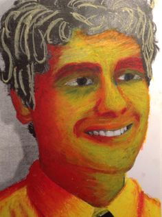 Fauvist self-portrait (Had trouble with the hair, looks like spaghetti)