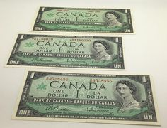 Canada Centennial Banknotes 1867-1967 Lot Of 3 With and