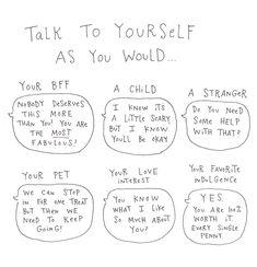 Pep Talks // illustration by Mari Andrew via Cup of Jo