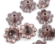 144 Antique Copper Beads 3mm Rondelle Donut Aged by LythaStudios