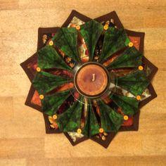 Folded Stitch Wreath for fall