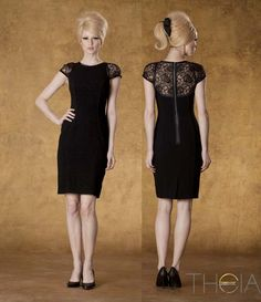 Nothing like a little black dress with a twist #lbd #theia