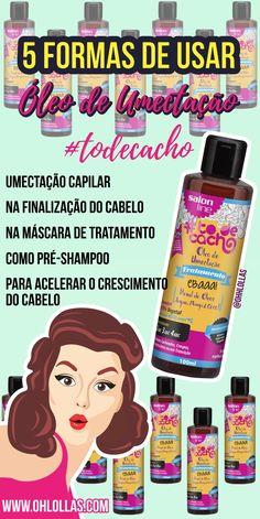 Resenha Óleo de Umectação Ebaaa #todecacho Salon Line. Blend de óleos argan, manga e coco. 5 Formas de Usar: umectação capilar, umectação noturna, na finalização do cabelo, máscara de tratamento capilar para nutrição, como pré-shampoo, no método de inversão capilar @ohlollas