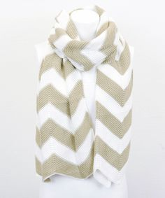 Khaki Zigzag Scarf | Daily deals for moms, babies and kids