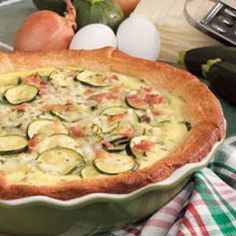 Zucchini Bacon Quiche Recipe