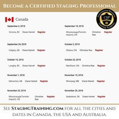 CSP International™ Staging Training Academy is the leading real estate home staging certification & staging school in the world. Your home staging resource. Intensive Training, Training Academy, Home Staging, How To Become, Career, Canada, Australia, Usa, Learning
