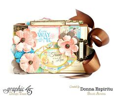 How to Make a Travel-Themed Mini-Album by Donna #graphic45