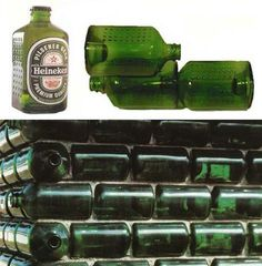 In 1963, Alfred Heineken made a beer bottle that could function as a brick to build houses in impoverished countries.