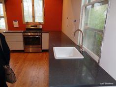 CaesarStone Piatra Grey - Chicago IL  -  http://www.amfgranite.com/quartz-countertops-projects/caesarstone-piatra-grey-chicago-il/