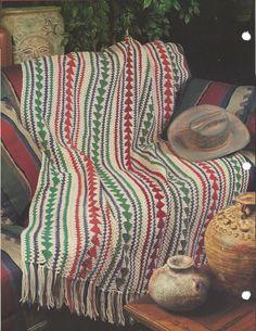 👯 Padrão Cobertor afegão Crochê Cabeça de Flecha pela Tricotar itens decorativos Criações -  /  👯 Pattern Afghan Blanket Crochet Arrowhead by Knit Knacks Creations -