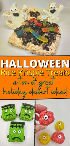 Here is a whole list of spooky Halloween Rice Krispie Treats you are sure to love. Best of all they are quick, easy to make, and require no baking! #nobakedesserts #easydesserts #ricekrispietreats Rice Krispie Treats, Rice Krispies, No Bake Desserts, Easy Desserts, Spooky Halloween, Treat Yourself, Avocado Toast, Baking, Breakfast