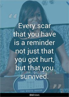 Michelle Obama& best quotes can help us get through the next four Great Quotes, Quotes To Live By, Me Quotes, Motivational Quotes, Inspirational Quotes, Scar Quotes, Wisdom Quotes, Happiness Quotes, Acting Quotes