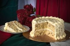 Italian Cream Cake  ... {blog page with a bunch of dessert recipes from cakes to pies to ice cream, some traditional (chess pie, lemon blossom, chocolate southern peacan pie), and some very unique (Sweet Tea Pie, Sweet Potato Ice Cream, Pinto Bean Cake)