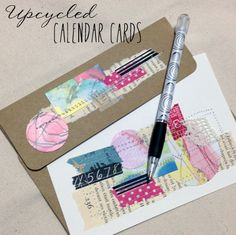 Upcycled Calendar Cards tutorial by  {Roben-Marie Smith}