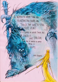 BRAND NEW: Chris Riddell illustrates Neil's words on HOPE: limited edition print
