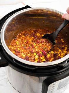 Easy Instant Pot Chili Recipe (Pressure Cooker Chili)