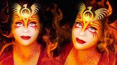 Halloween Makeup Tutorial: Phoenix the Fire Bird