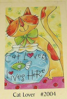 """Garden Art Flag CAT LOVER LIVES HERE By Toland 28"""" X 40"""" NEW Sealed  #Toland"""