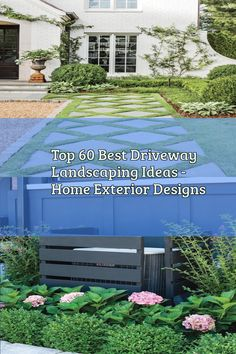 Top 60 Best Driveway Landscaping Ideas Home Exterior Designs In 2020 House Designs Exterior Exterior Design Driveway Landscaping