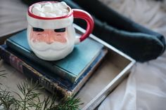 Are you looking for the equivalent of a winter Beach Read? Check out our Cocoa Read list, a list of good books to read during the winter. Days Until Christmas, Christmas Mood, Christmas Christmas, Good New Books, Santa Mugs, Weird Gifts, Crazy Gifts, Christmas Party Games, Halloween Party