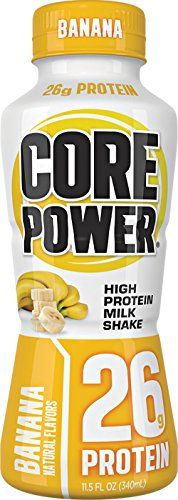 Core Power by fairlife High Protein (26g) Milk Shake, Banana, 11.5-ounce bottles,12 Count -- Read more at the image link.