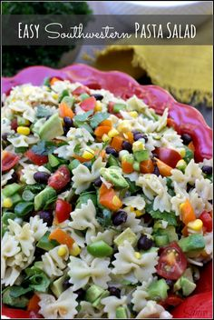 Easy Southwestern Pasta Salad with cumin vinaigrette