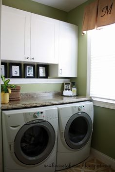 love this for small space laundry room.