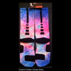 Cotton Candy Galaxy Nike Custom Elites NEW by TheSickestSocks