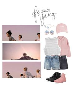 """""""BTS - Young Forever ♡"""" by ellvenlovely ❤ liked on Polyvore featuring Converse, Topshop, L.L.Bean and Sunday Somewhere"""