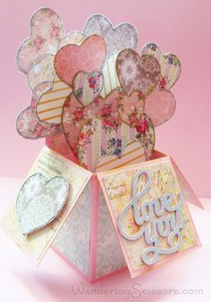 By Michelle Bowley. Card in a Box Valentine. Directions on her site show how to make the box.