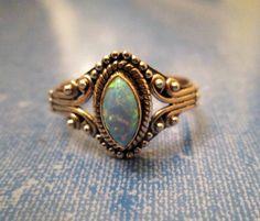RING  - Fire OPAL  - ORNATE  - 925 - Sterling Silver - size 8  opal 403 by MOONCHILD111 on Etsy