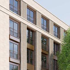 Modern Buildings, Modern Architecture, Senior Living Homes, Brick Facade, Oak Park, Affordable Housing, Master Plan, Chelsea, Multi Story Building