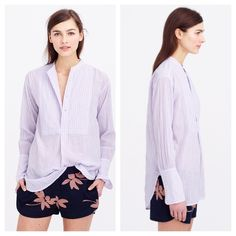 💥50% OFF FLASH SALE 💥Purple popover tunic Worn and washed once—a little wrinkled but in otherwise new condition! FLASH SALE ENDS SUNDAY, 12/10. J. Crew Tops Tunics