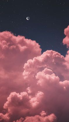Mond zwei im nächtlichen Himmel whatsapp wallpaper Wallpaper Ideas Iphone Wallpaper Stars, Pink Clouds Wallpaper, Night Sky Wallpaper, Iphone Background Wallpaper, Tumblr Wallpaper, Colorful Wallpaper, Screen Wallpaper, Iphone Backgrounds, Wallpaper Ideas